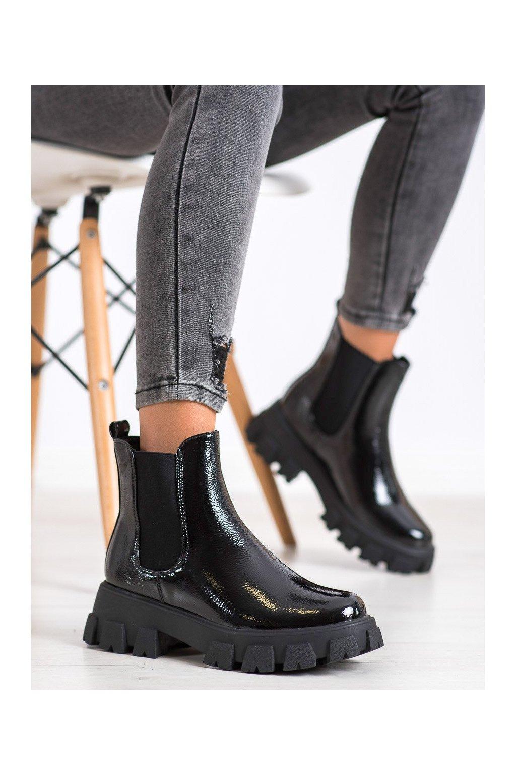 Čierne dámske topánky Shelovet kod T2172-1B