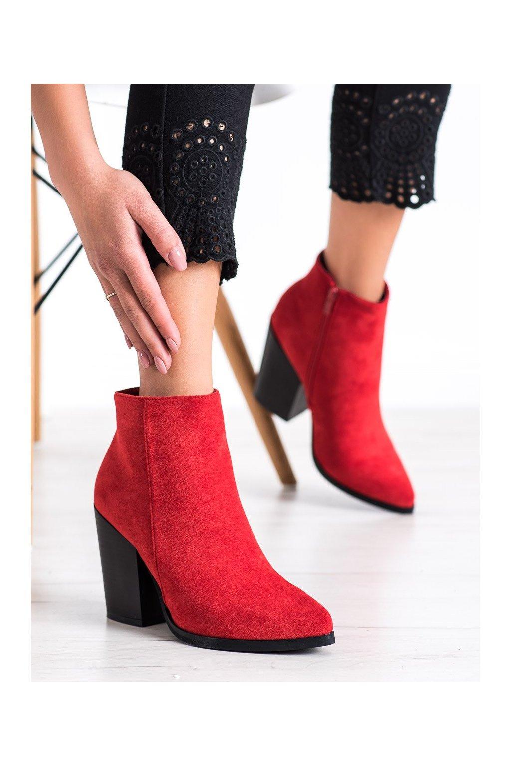 Červené dámske topánky Marquiz kod TX-3207R