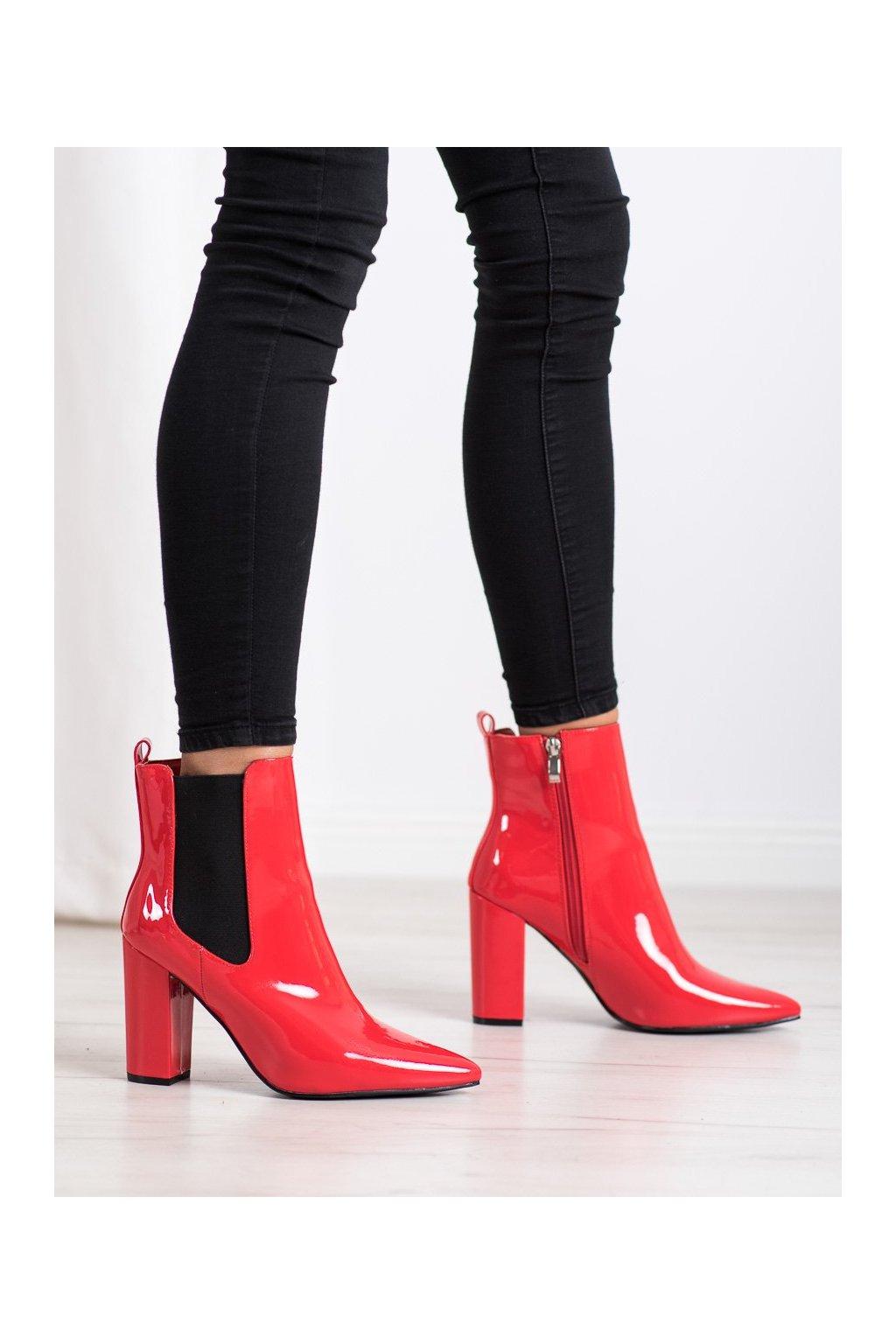 Červené dámske topánky Yes mile kod K231R