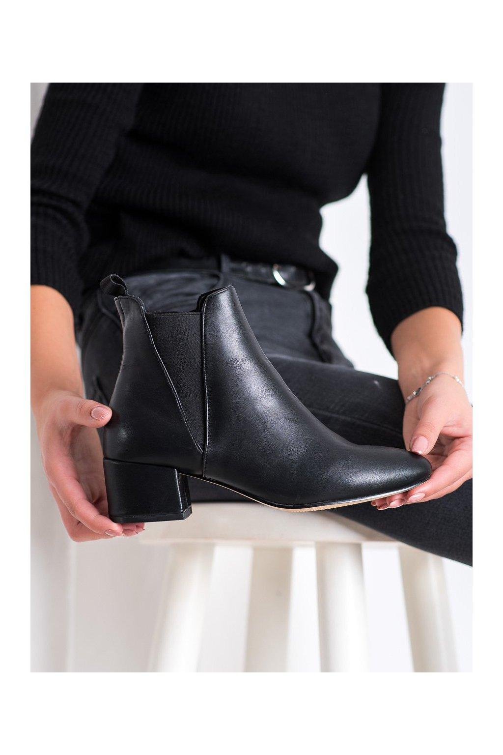 Čierne dámske topánky Shelovet kod G-248B