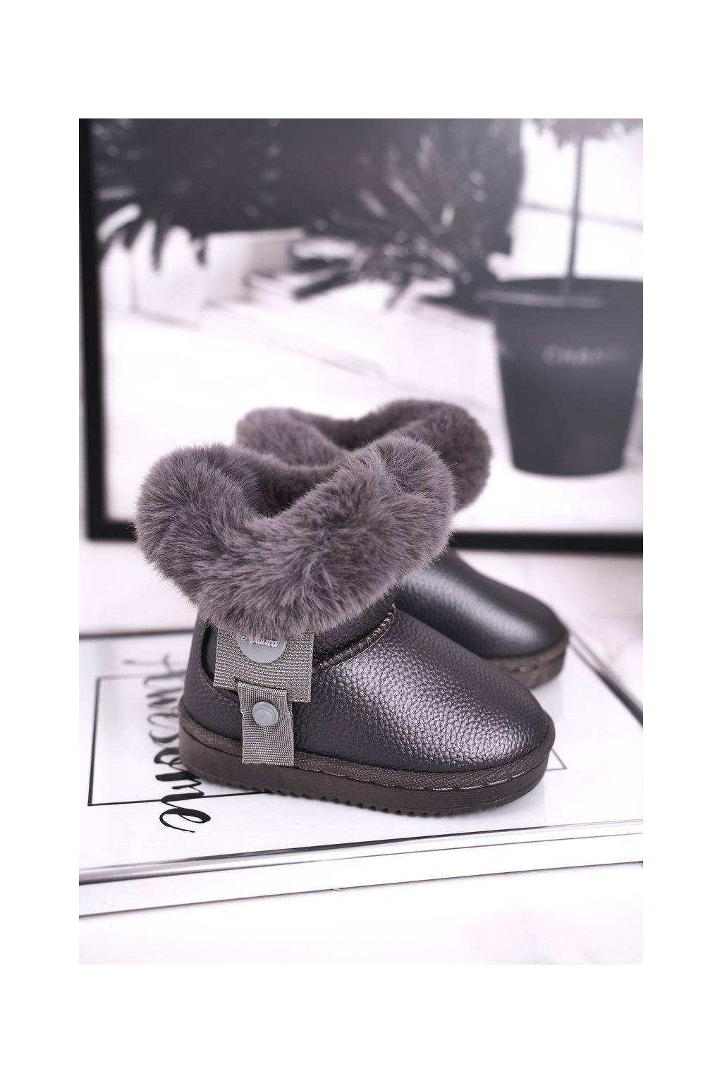 Detské snehule farba sivá kód obuvi LD27 GREY