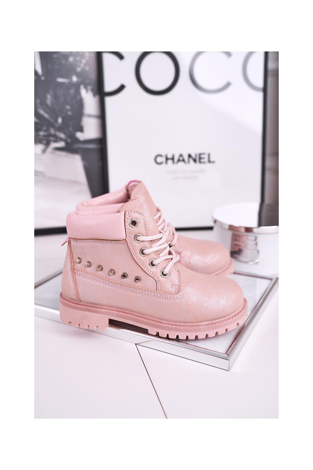Detské členkové topánky farba ružová kód obuvi HYT002-19 PINK