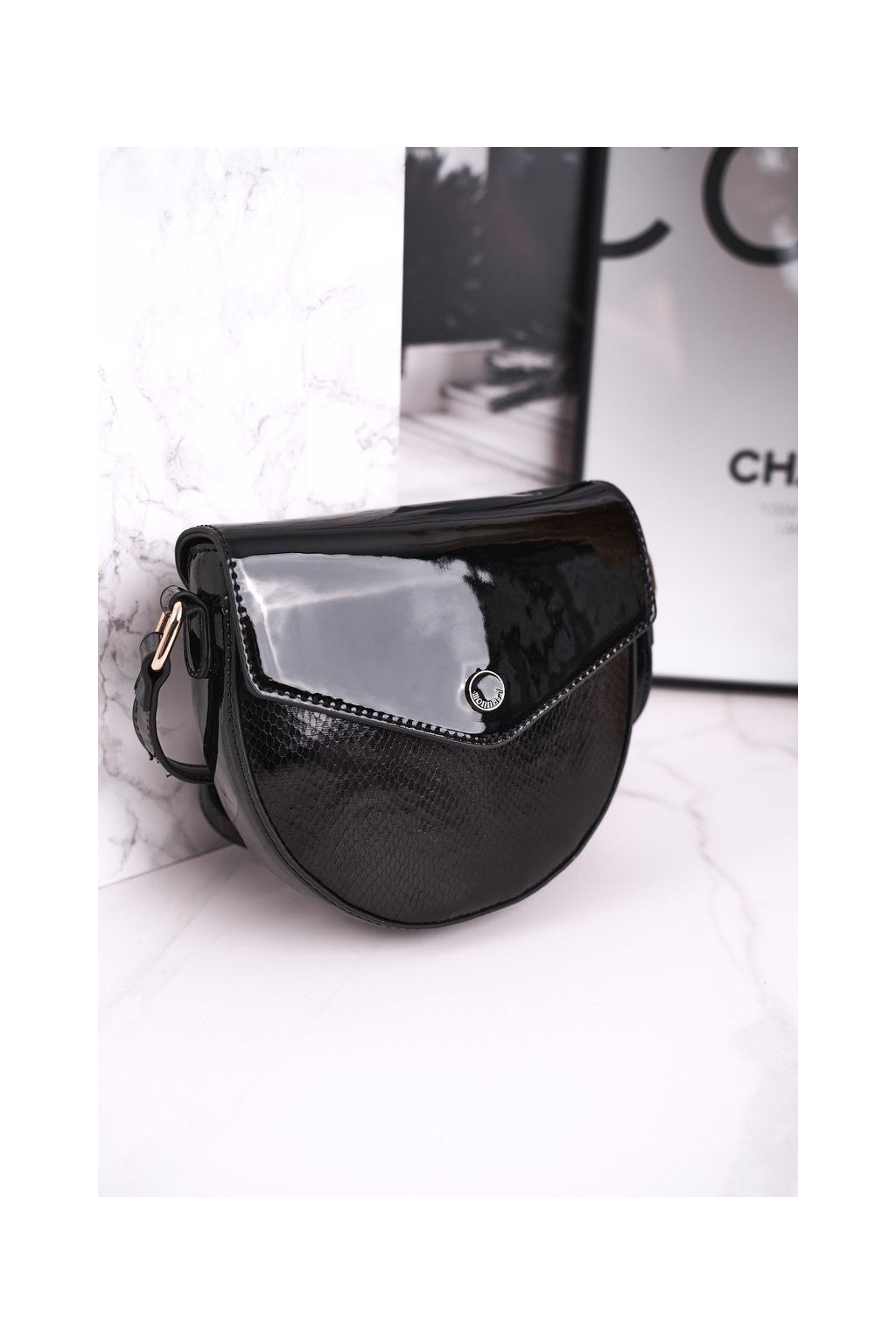 Dámska listová kabelka čierna kód kabelky BAG5710-M20 BLK