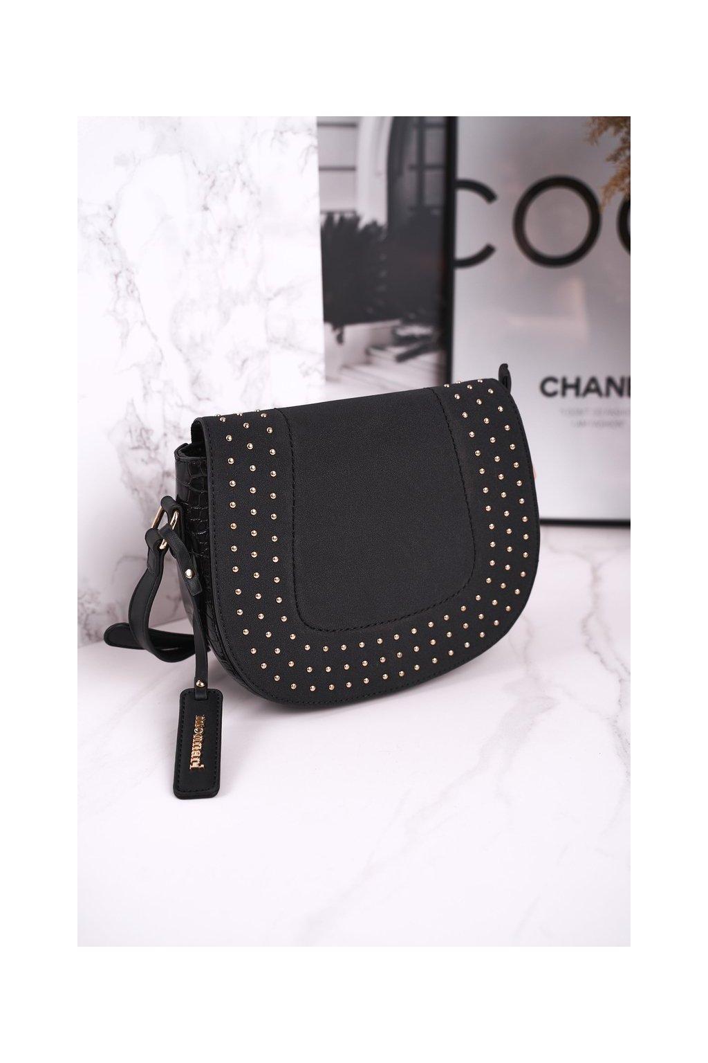 Dámska listová kabelka čierna kód kabelky BAG4250-020 BLK ZAMSZ