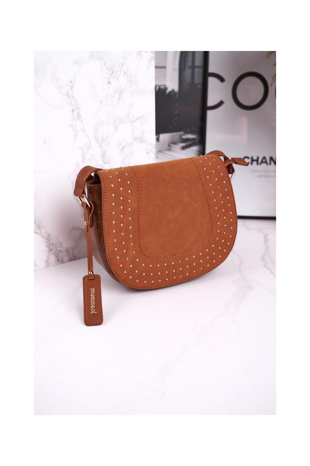 Dámska listová kabelka hnedá kód kabelky BAG4250-017 BRĄZ ZAMSZ