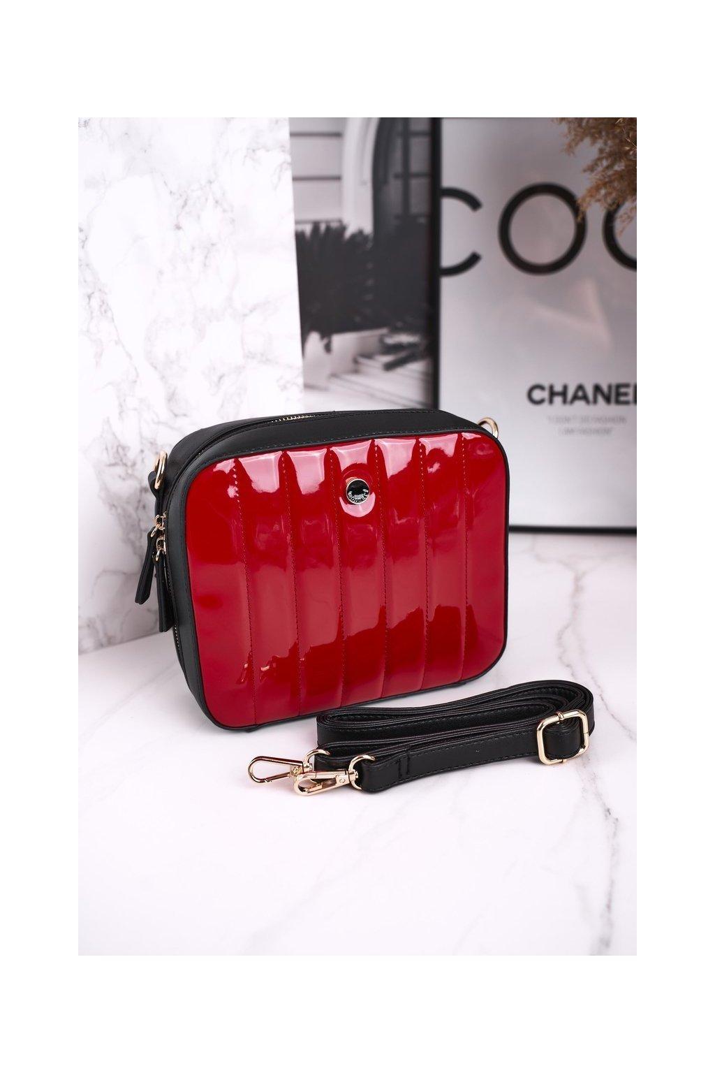 Dámska kabelka čierna kód kabelky BAG4220-019 RED