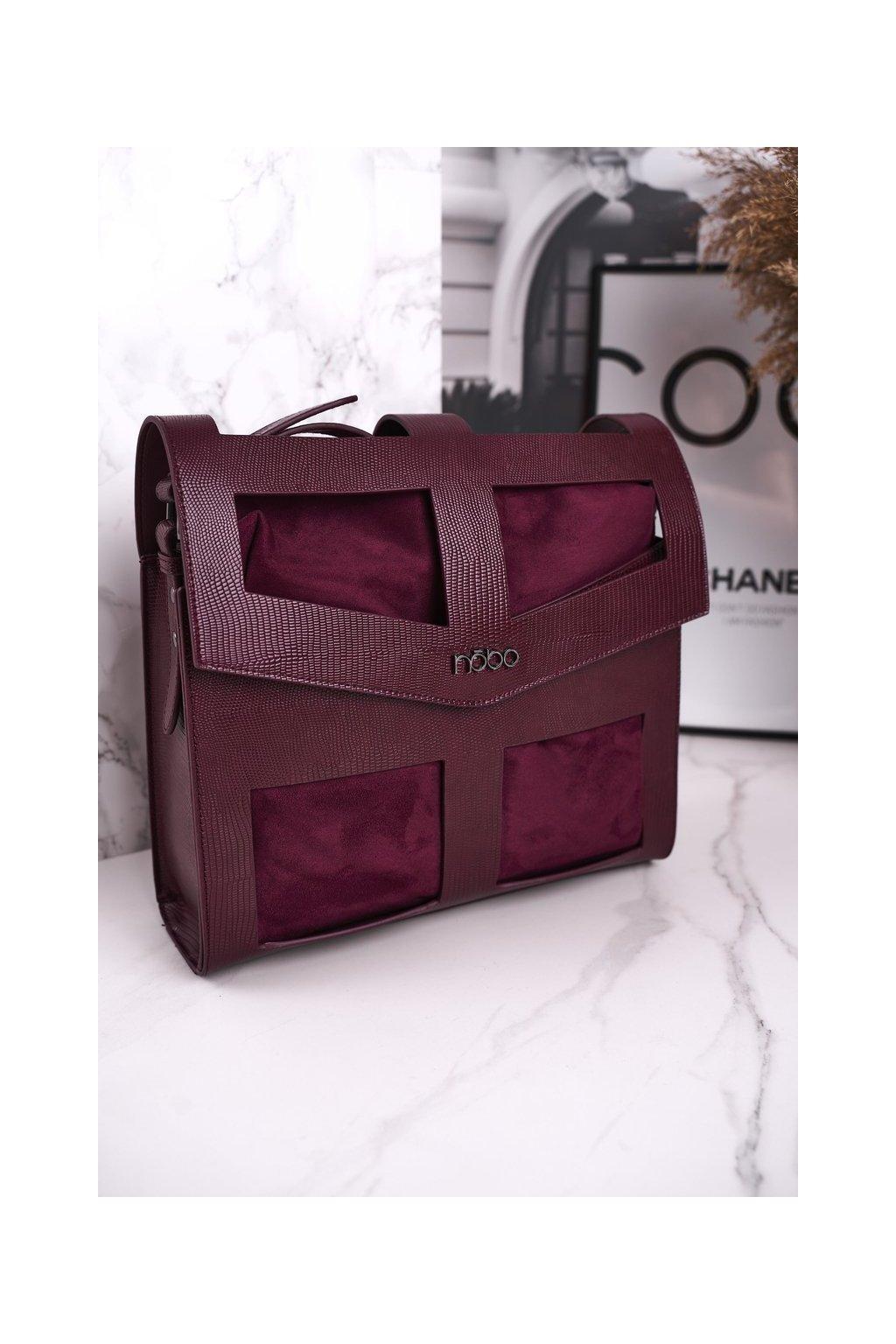 Dámska kabelka fialová kód kabelky NBAG-J2970-CM05 BORDOWY