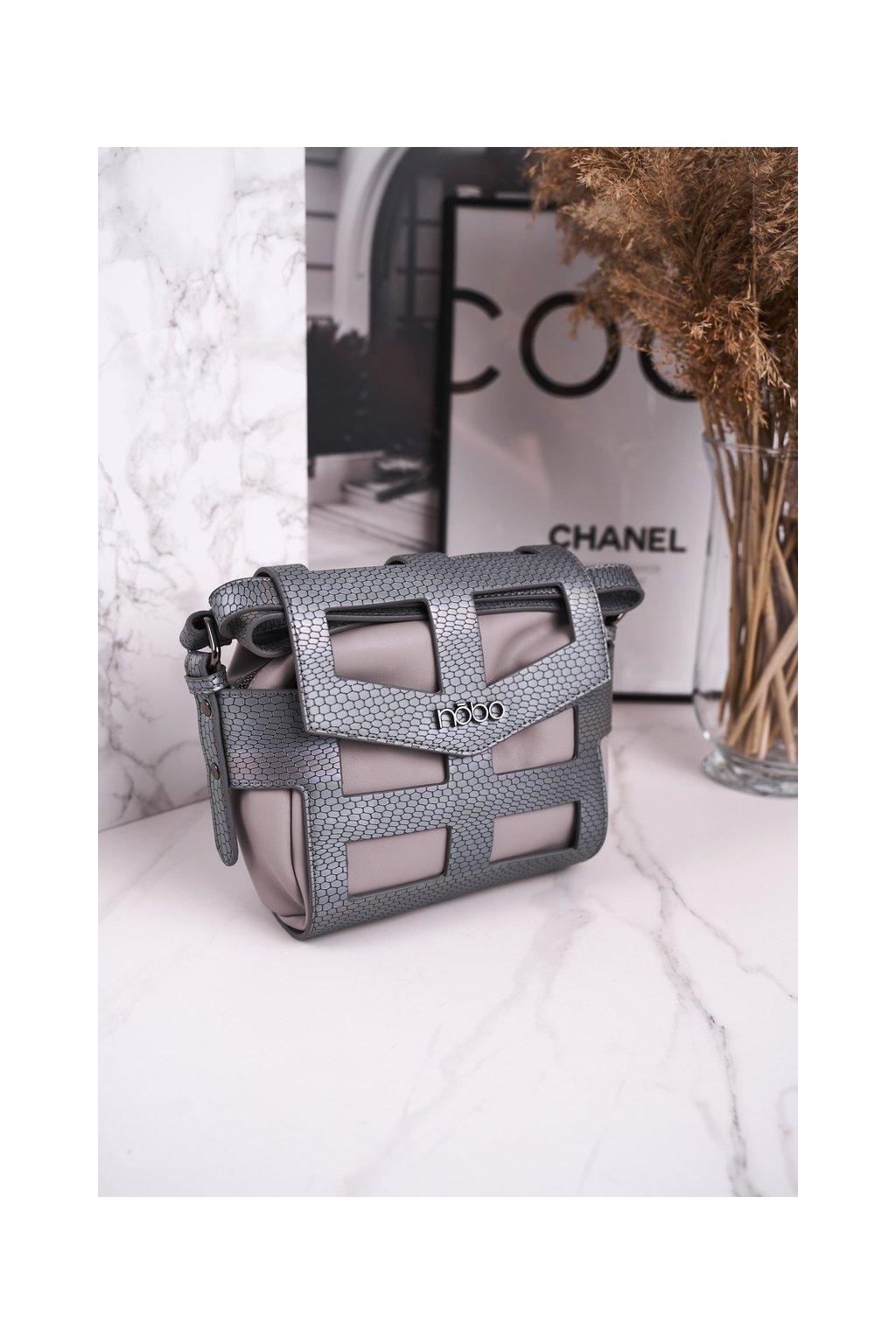 Dámska listová kabelka sivá kód kabelky NBAG-E4101-C019 SZARY