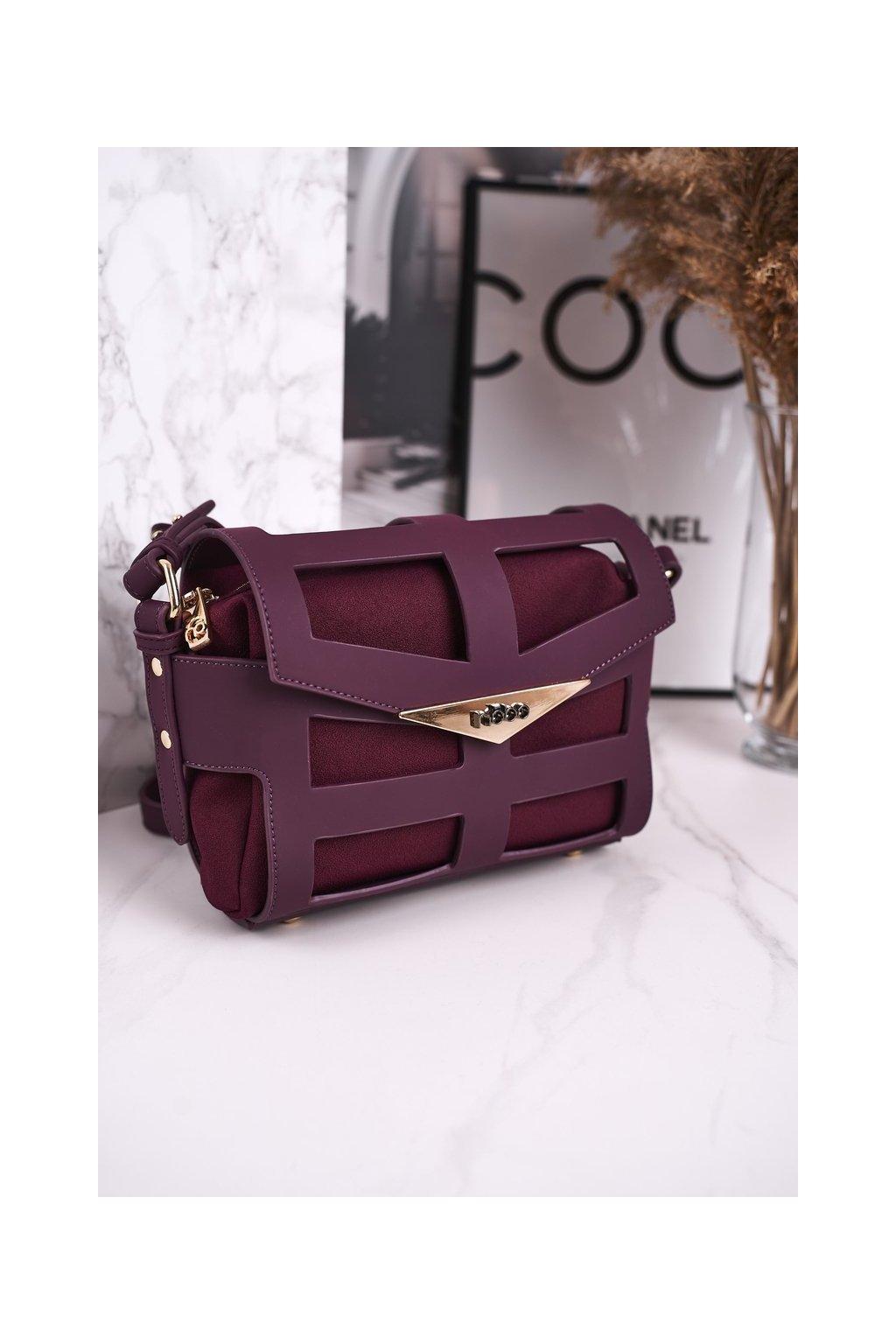 Dámska listová kabelka fialová kód kabelky NBAG-H4201-C005 BORDOWY