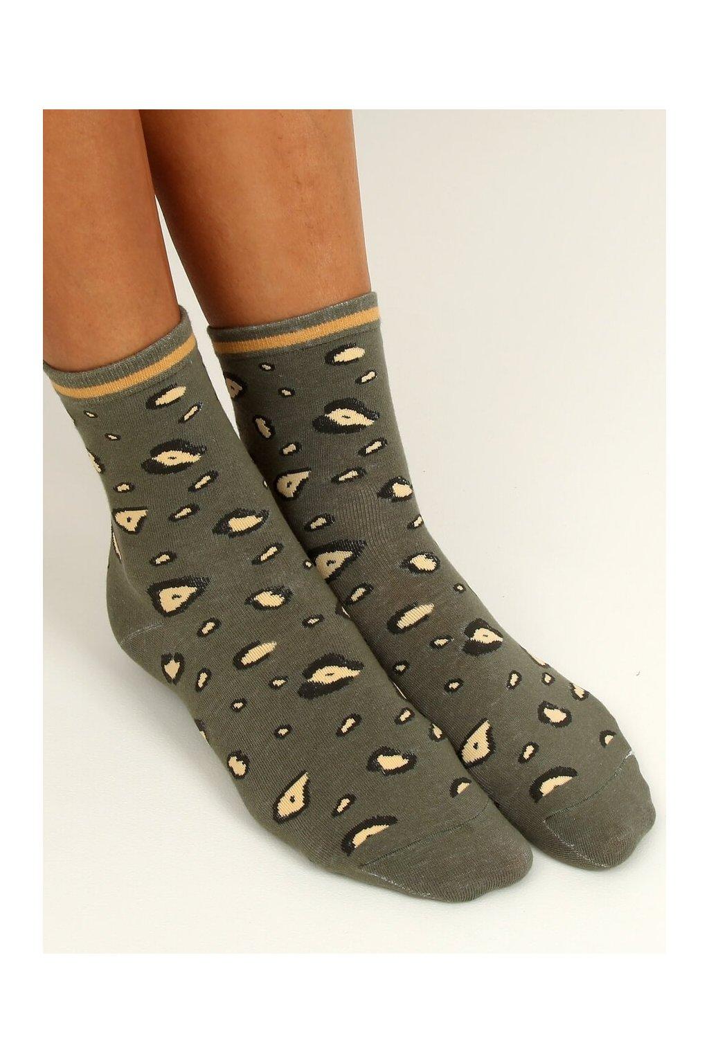 Damske ponožky zelené SK-NPC3625