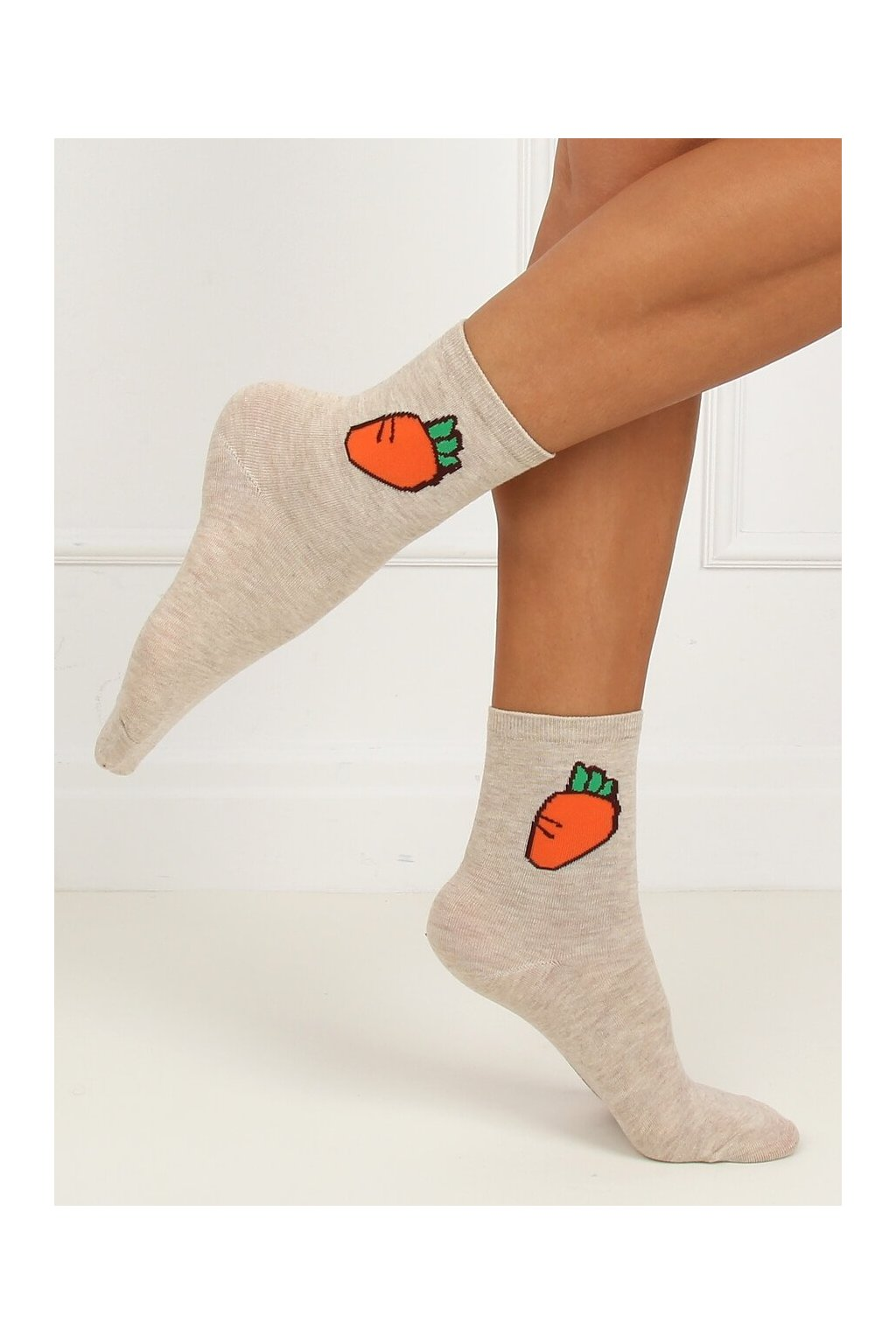 Damske ponožky hnedé SK-NZP6371