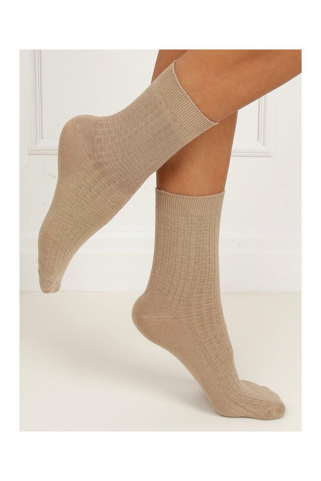 Damske ponožky hnedé SK-N8808