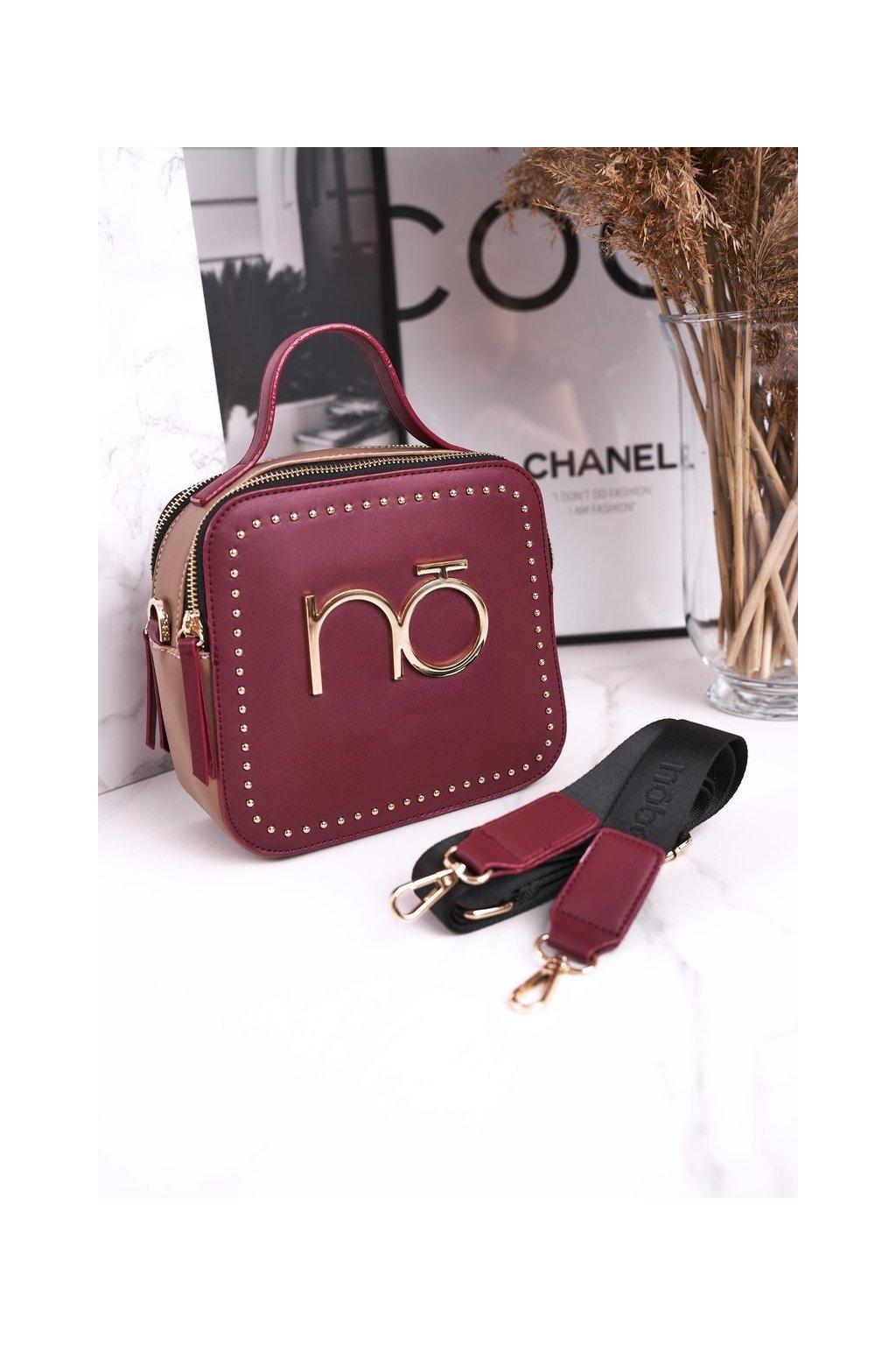 Dámska listová kabelka hnedá kód kabelky NBAG-J0860-C005 BORDOWY
