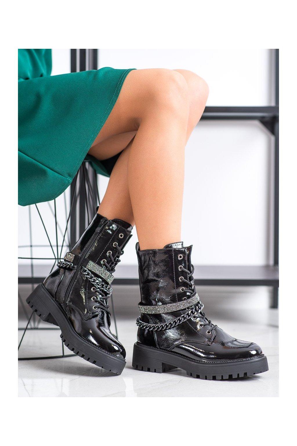 Čierne dámske topánky Seastar kod NS181B