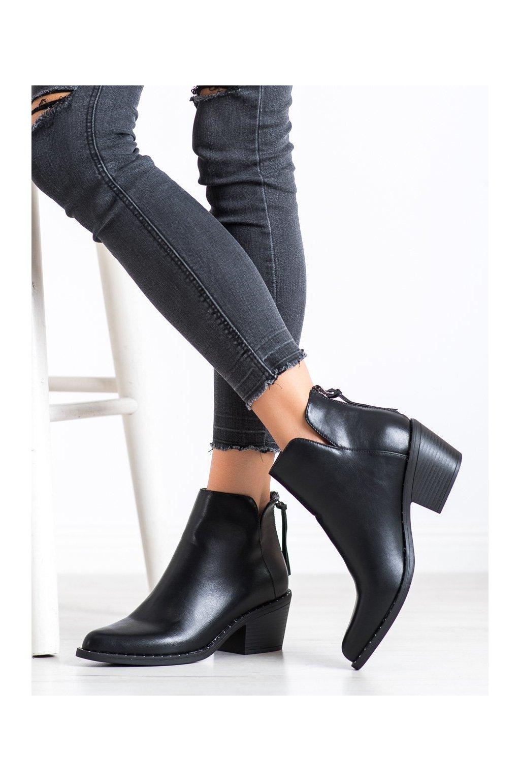 Čierne dámske topánky Kayla kod K-99119B