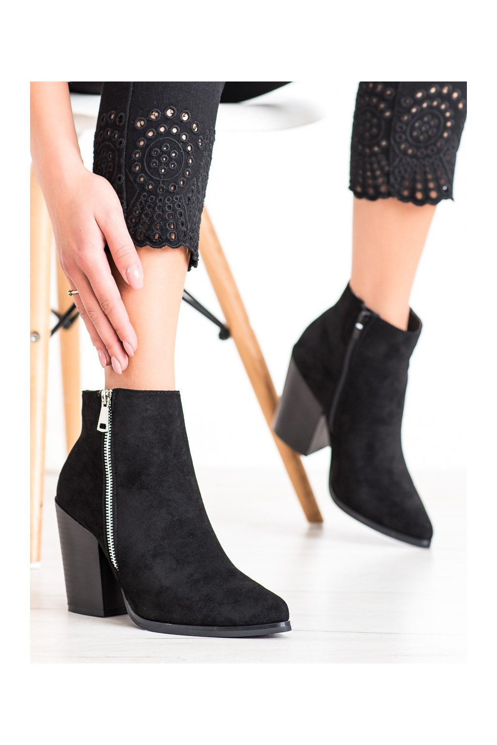 Čierne dámske topánky Marquiz kod TX-1873B