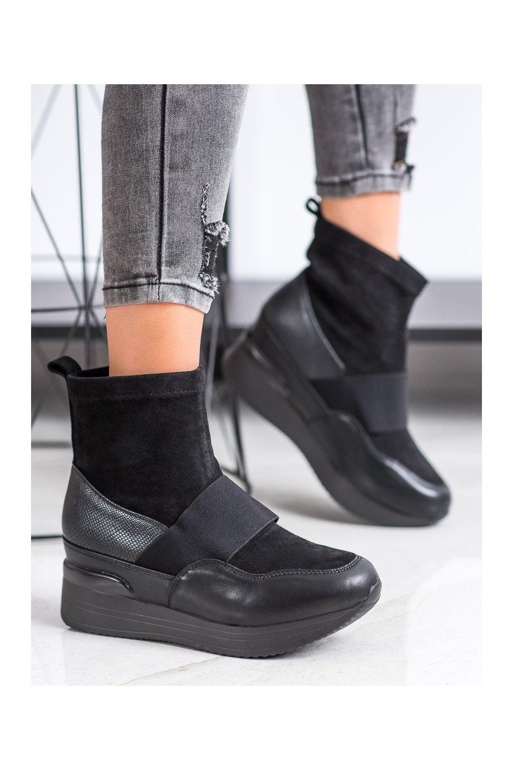 Čierne dámske topánky Shelovet kod DX5021B