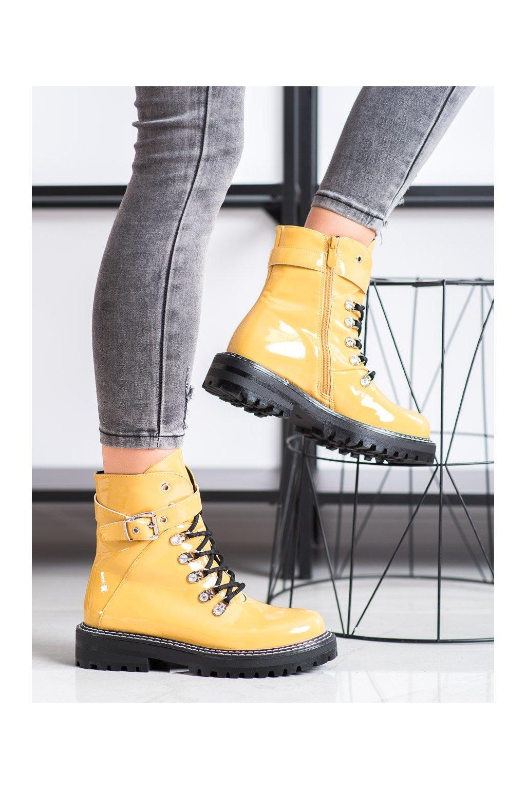 Žlté dámske topánky Sds kod 8120-PA-Y