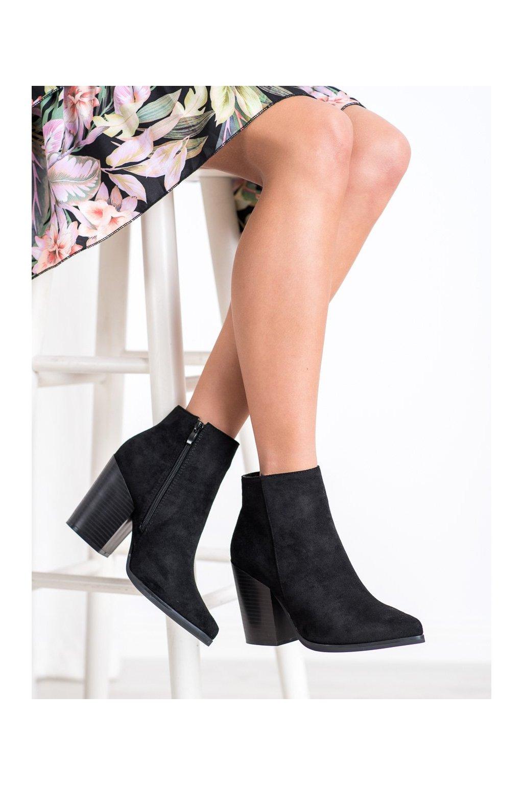Čierne dámske topánky Super me kod 8007-GA-B