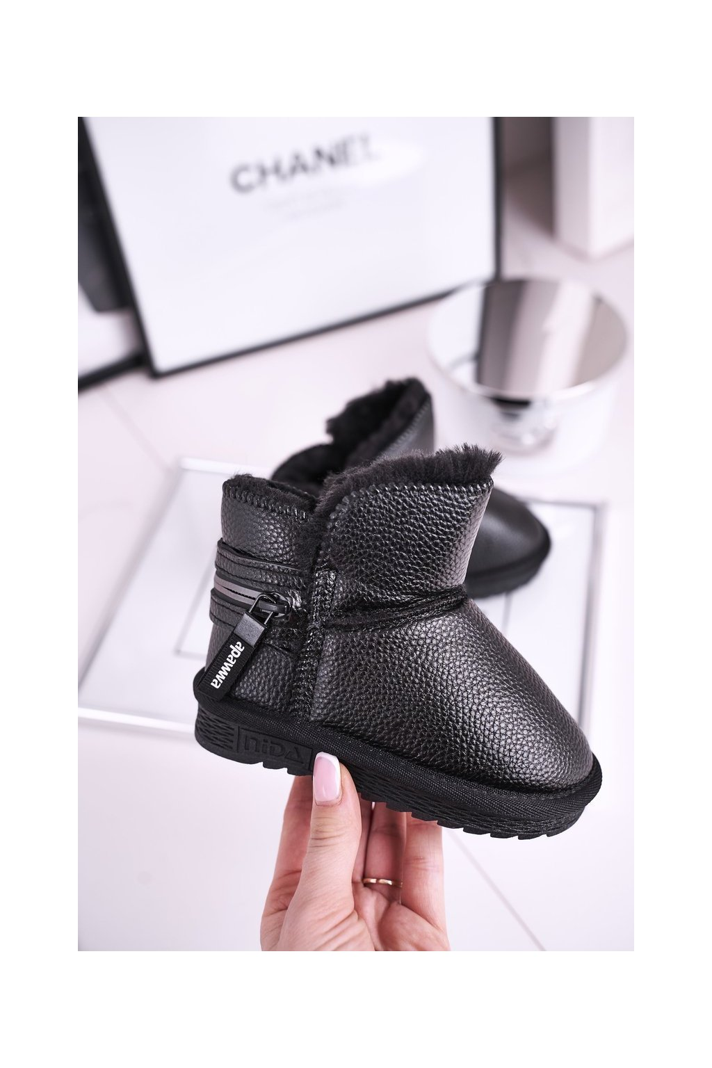 Detské členkové topánky farba čierna kód obuvi ND51/ND52 BLK