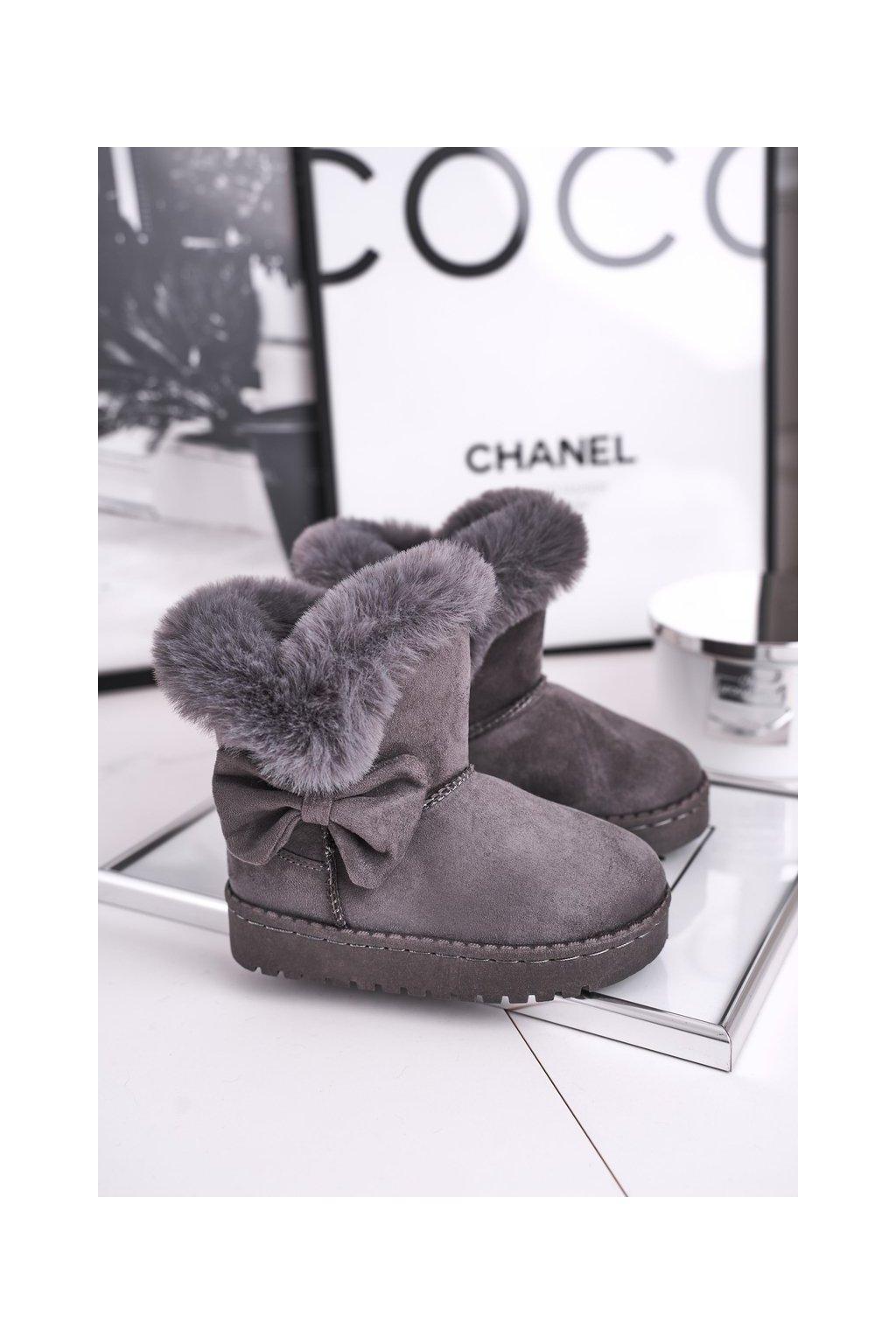 Detské snehule farba sivá kód obuvi 604-B GREY