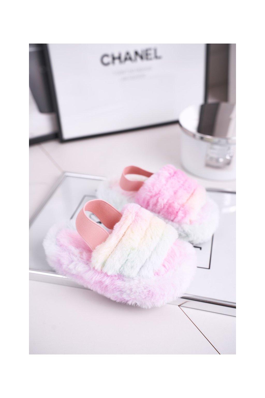 Detské šľapky farba ružová kód obuvi 7351-D TIEDYE