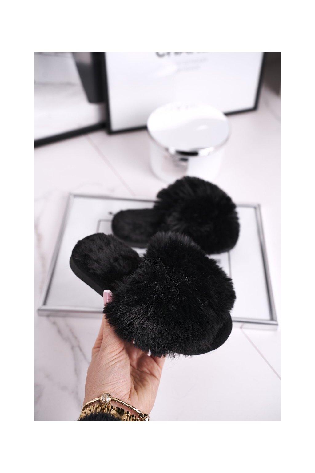 Detské šľapky farba čierna kód obuvi KL-A5 BLACK