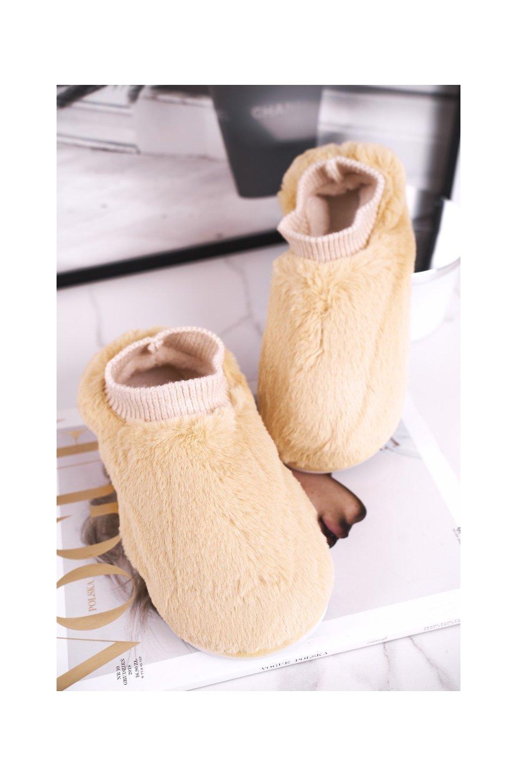 Dámske šľapky farba žltá kód obuvi E111 YELLOW