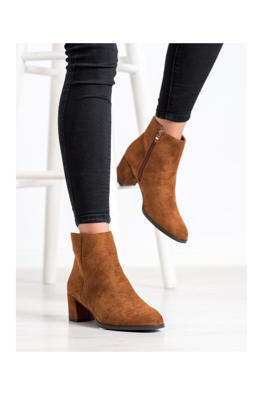 Hnedé dámske topánky Sergio leone kod BT528C