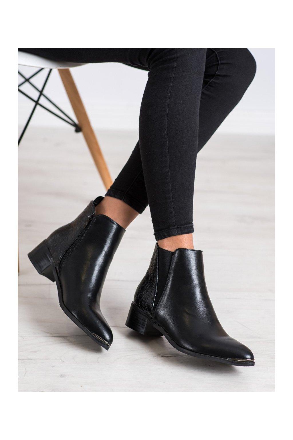 Čierne dámske topánky Kayla kod 88169B/B