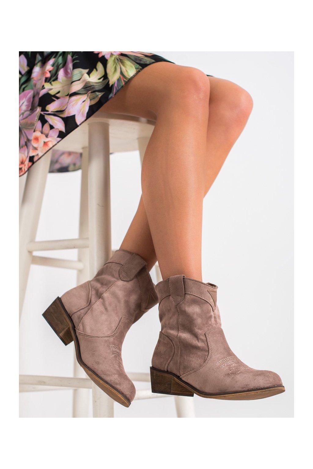 Hnedé dámske topánky Queentina kod BY1602KH