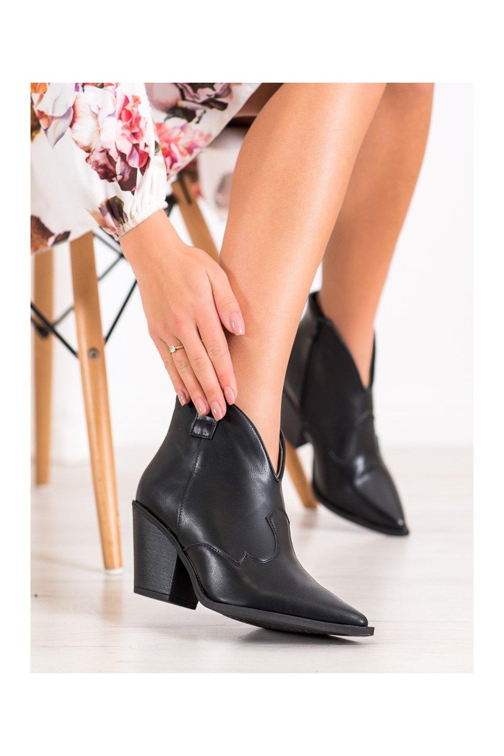 Čierne dámske topánky Queen vivi kod BJ1572B