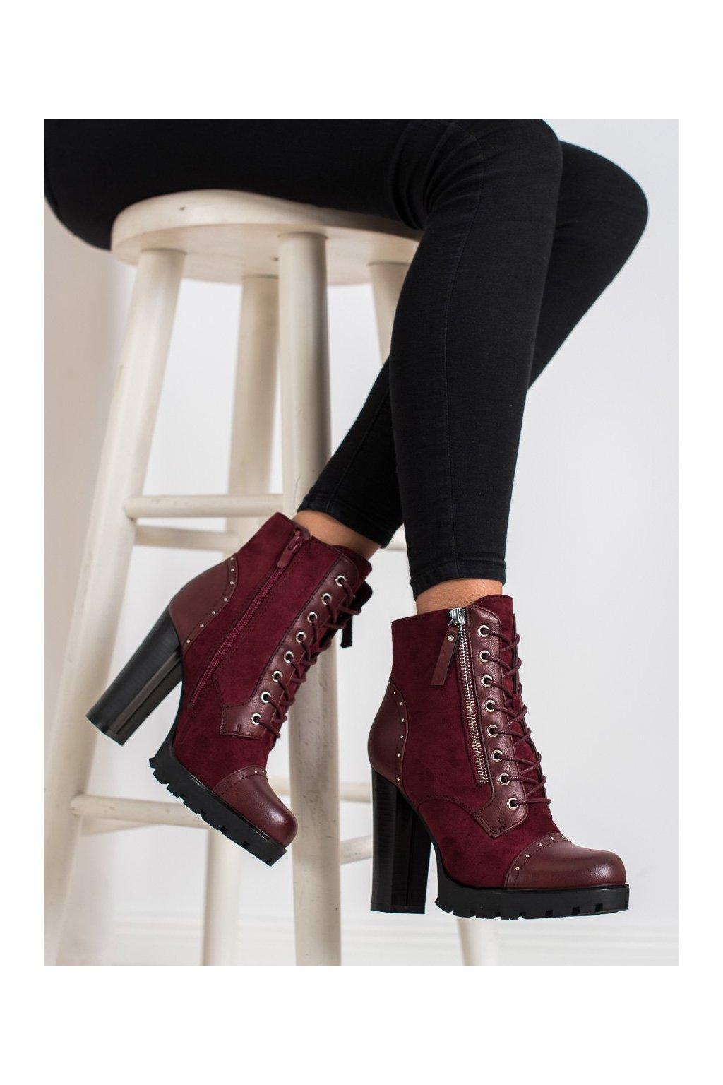 Červené dámske topánky Kayla kod 88198WI