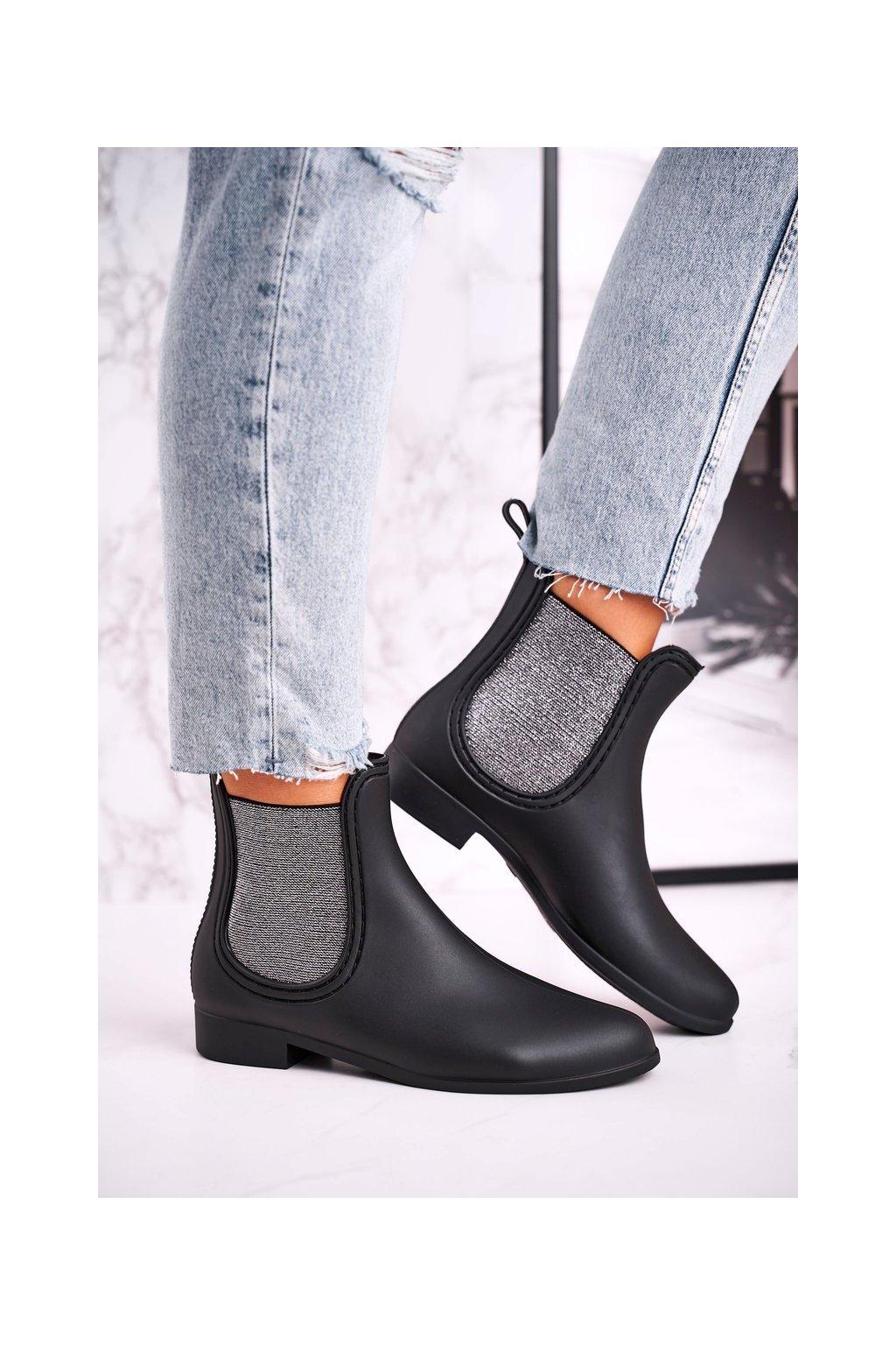 Dámske gumáky farba čierna kód obuvi DC03 BLACK