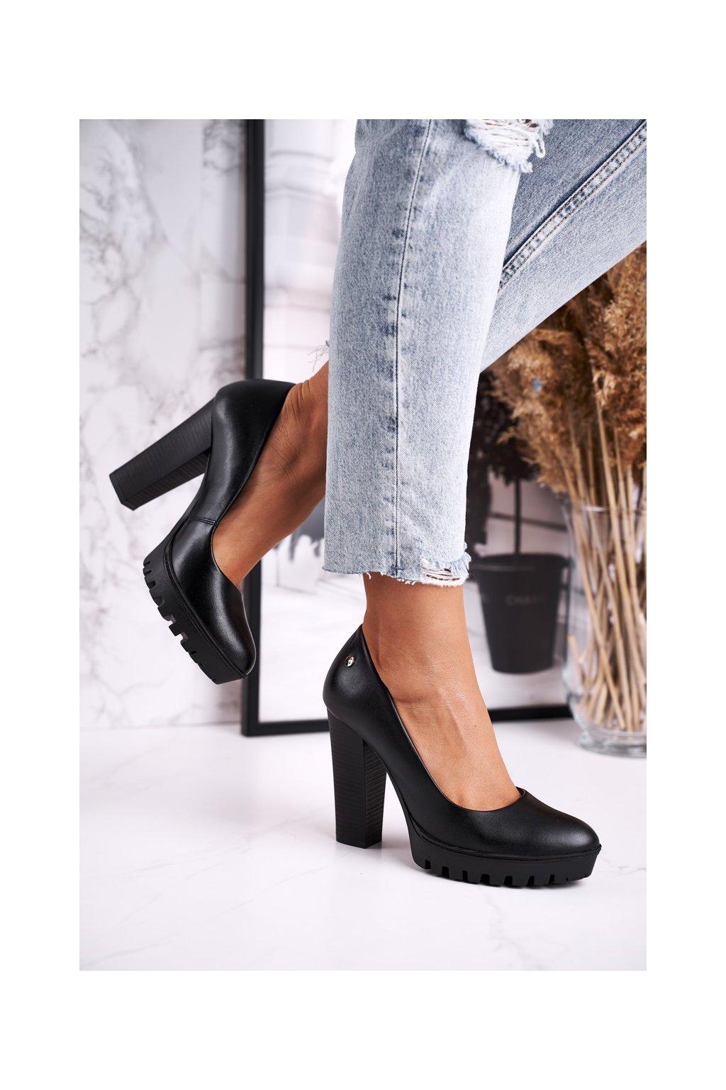 Dámske lodičky farba čierna kód obuvi 02629-01 BLK