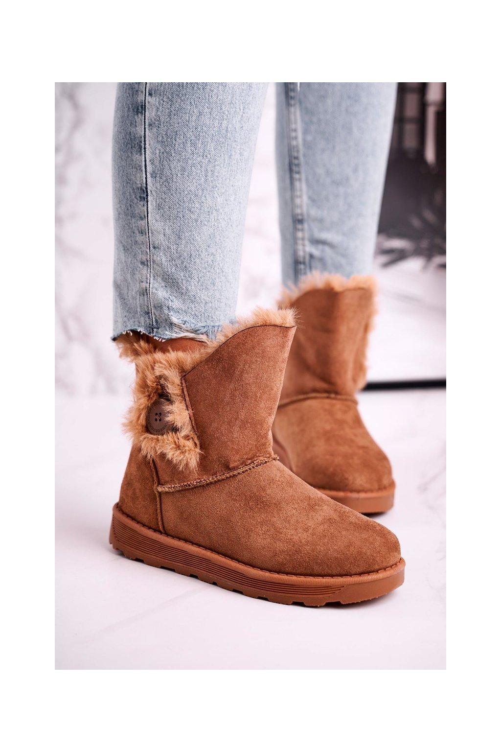 Členkové topánky na podpätku farba hnedá kód obuvi 258-3 CAMEL