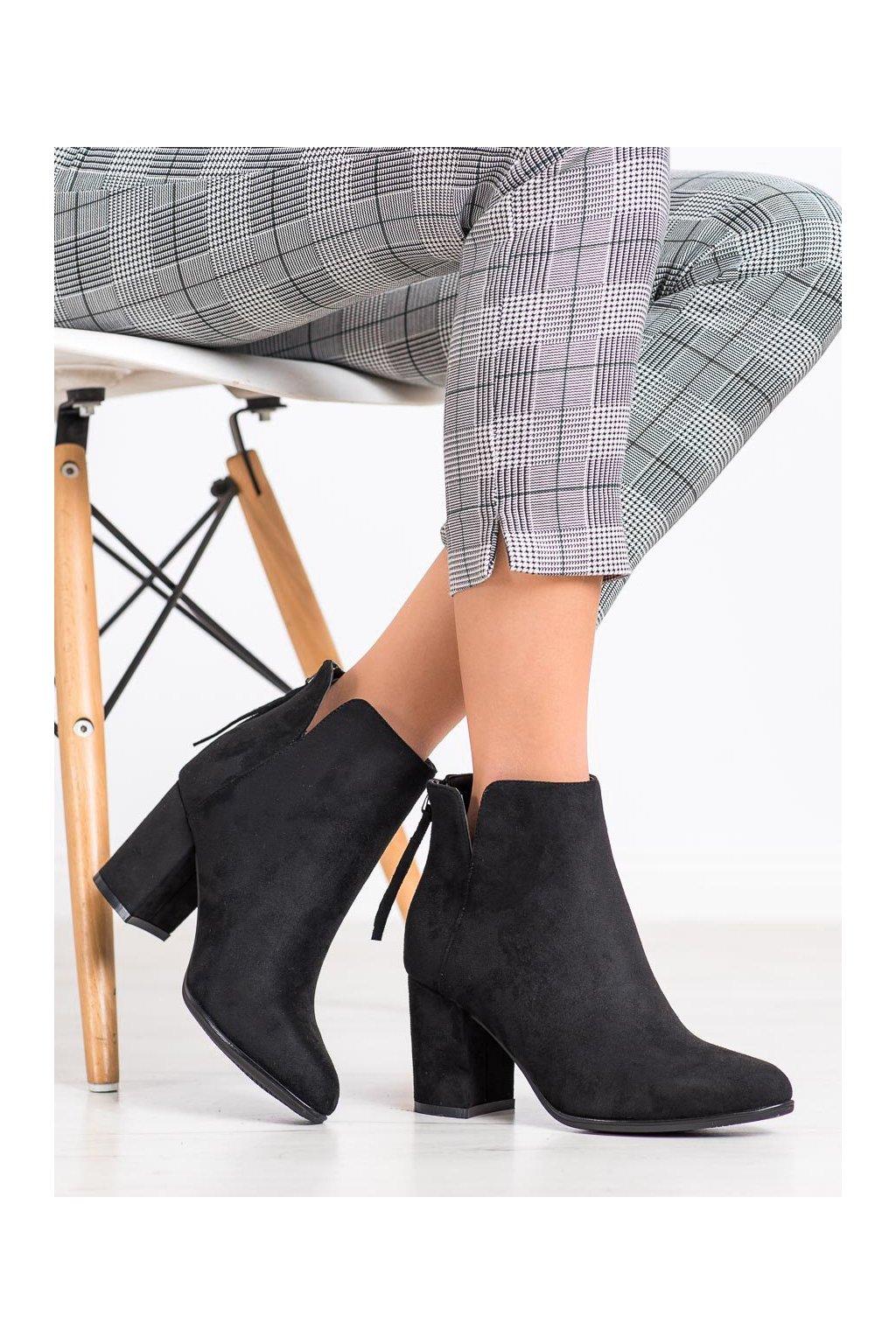 Čierne dámske topánky Queentina kod BH2511B