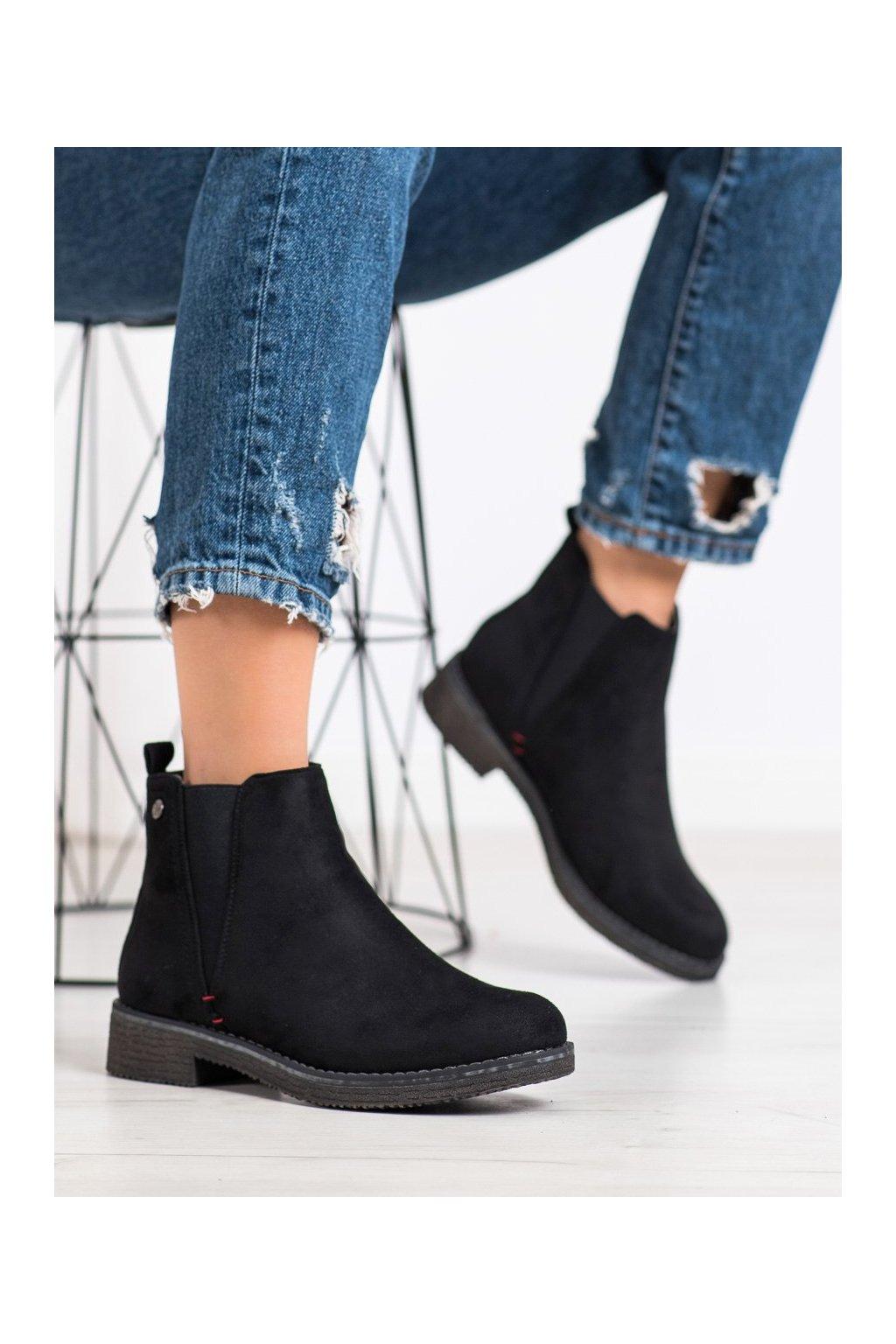 Čierne dámske topánky Super me kod 314B