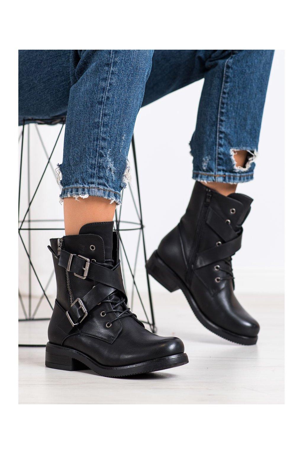 Čierne dámske topánky Kayla kod 88041B