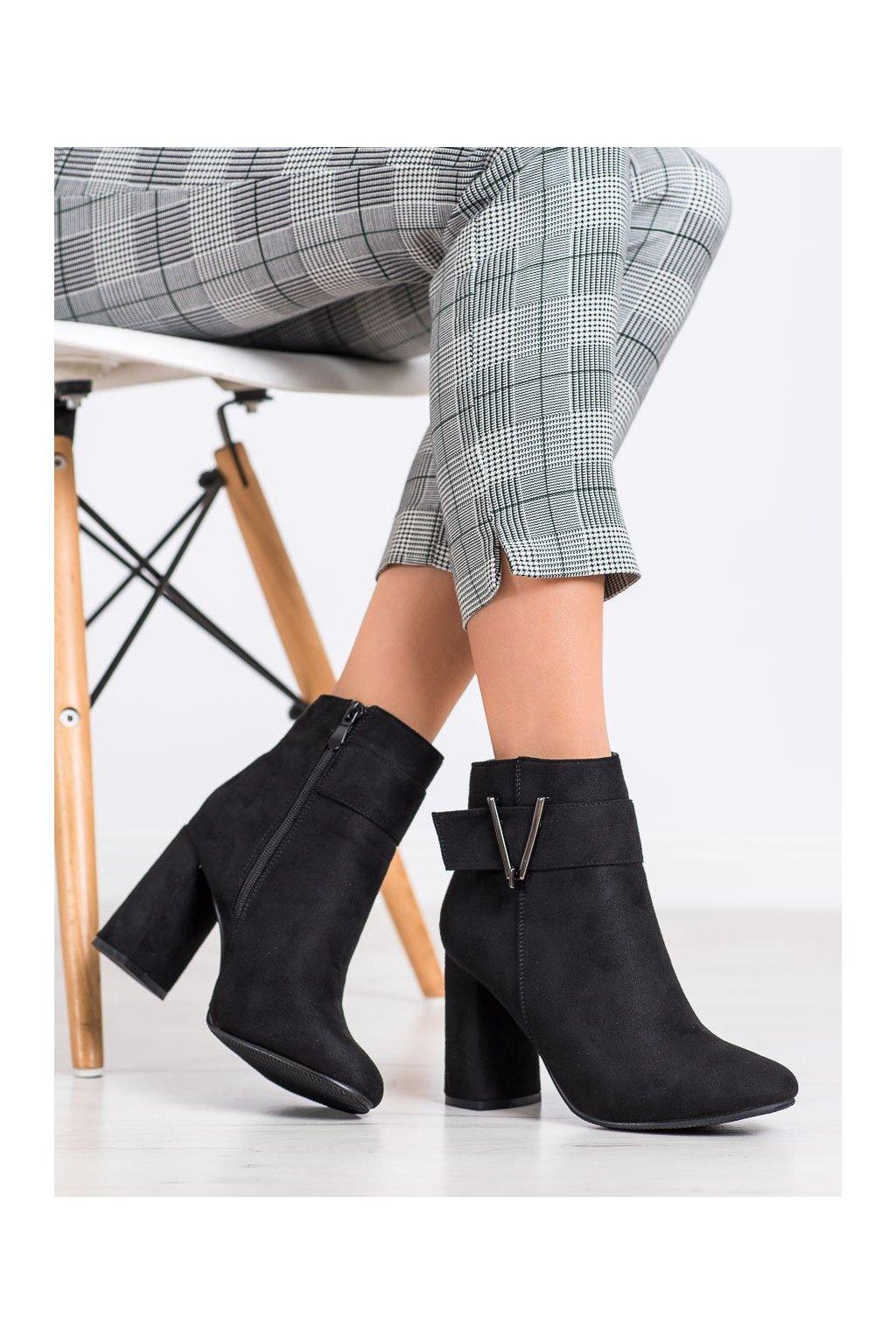 Čierne dámske topánky Balada kod W135-1B