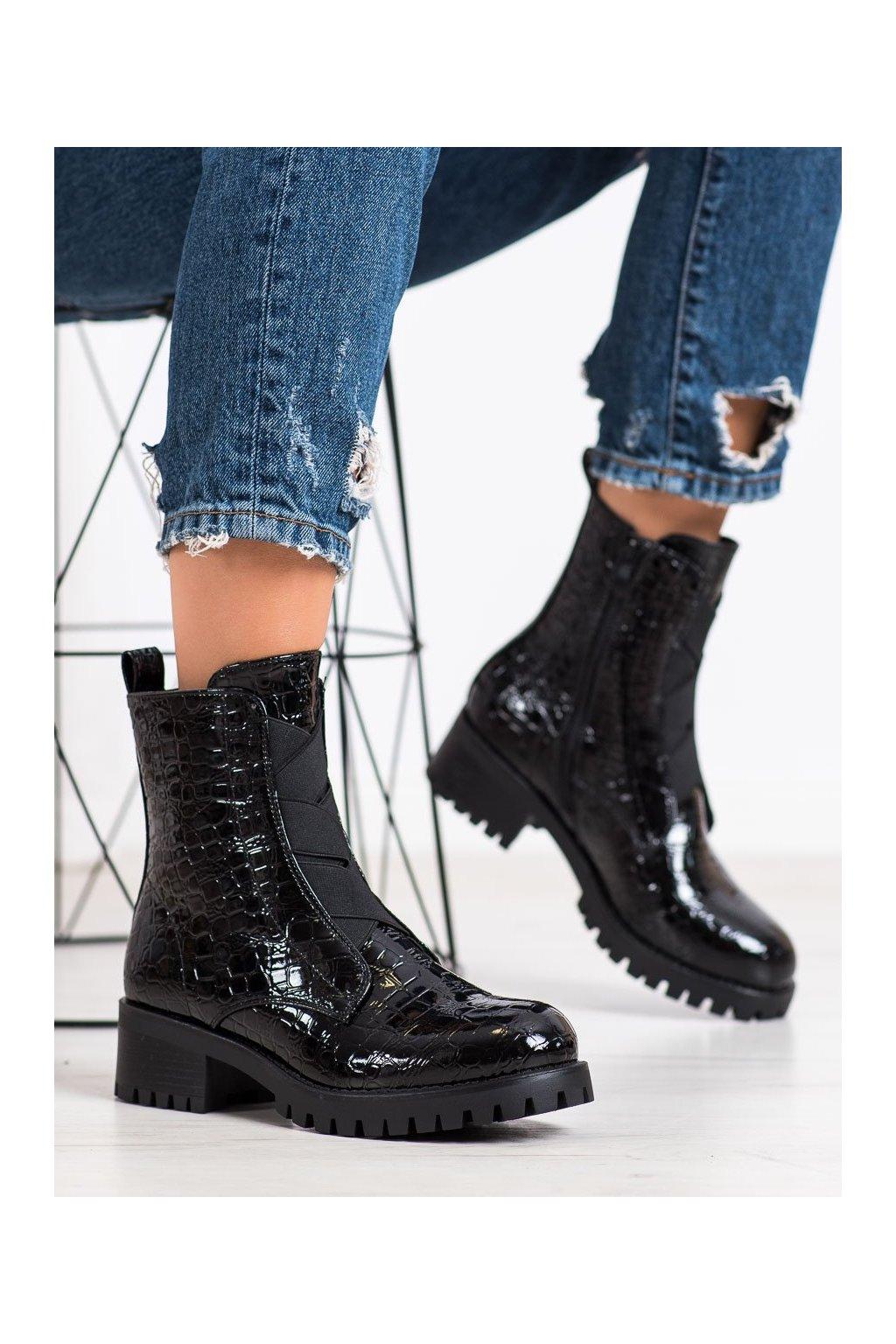 Čierne dámske topánky Super me kod 0-368B