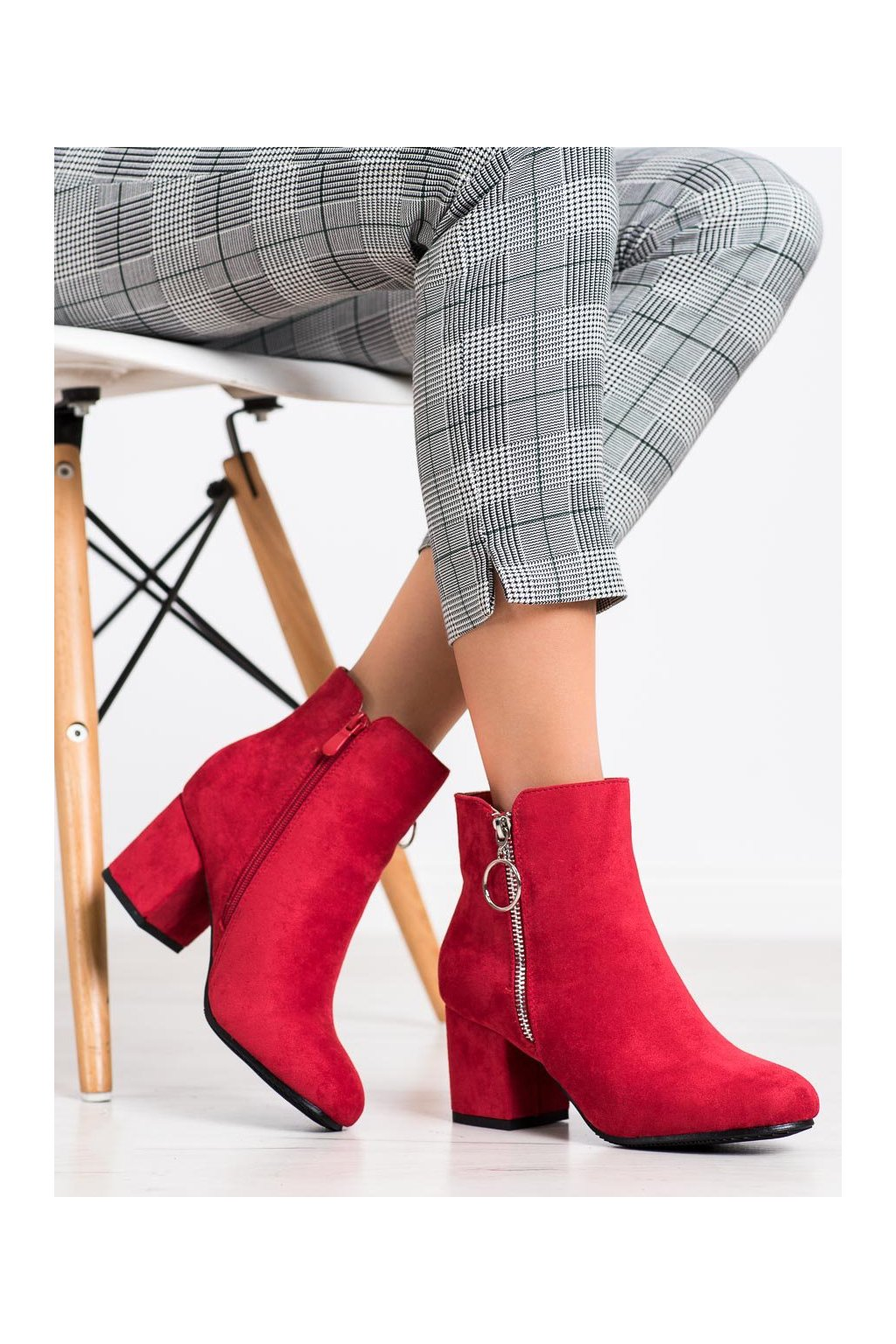 Červené dámske topánky Queen vivi kod 2208-99R