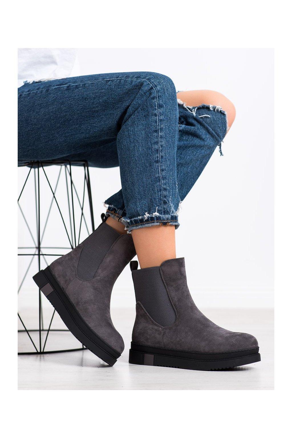 Sivé dámske topánky Gogo kod Q01G/