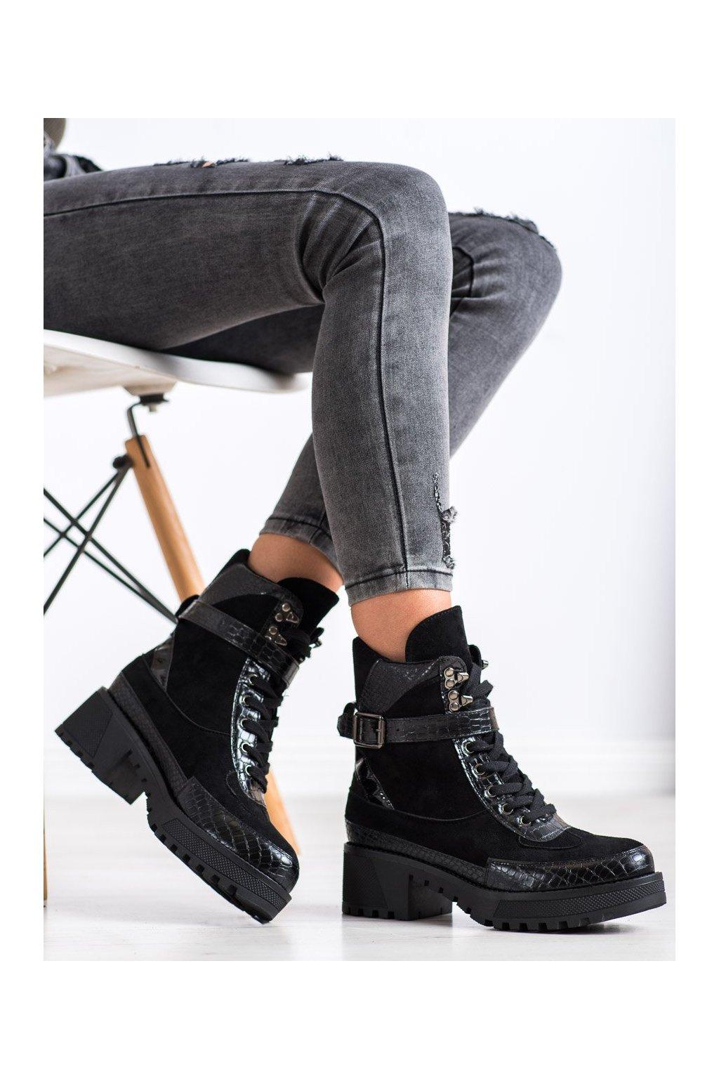 Čierne dámske topánky Gogo kod 20228B