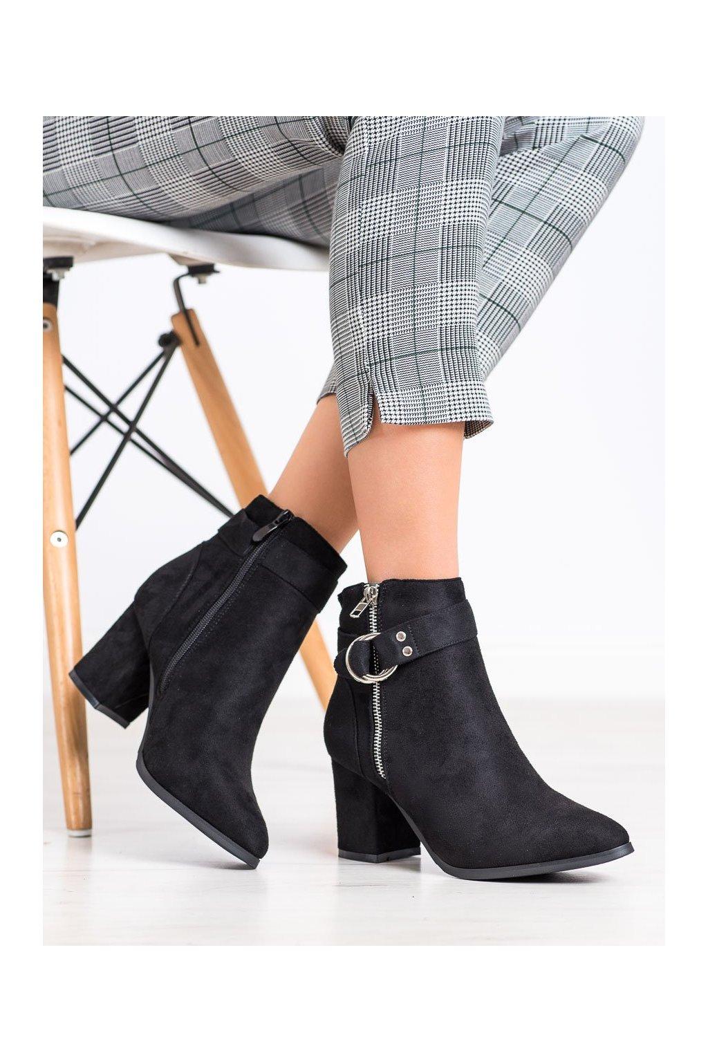Čierne dámske topánky Balada kod W137B
