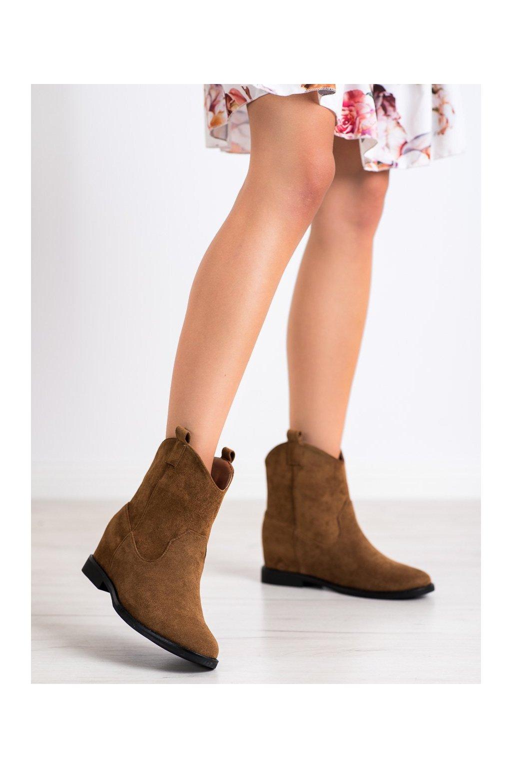 Hnedé dámske topánky Shelovet kod J936C