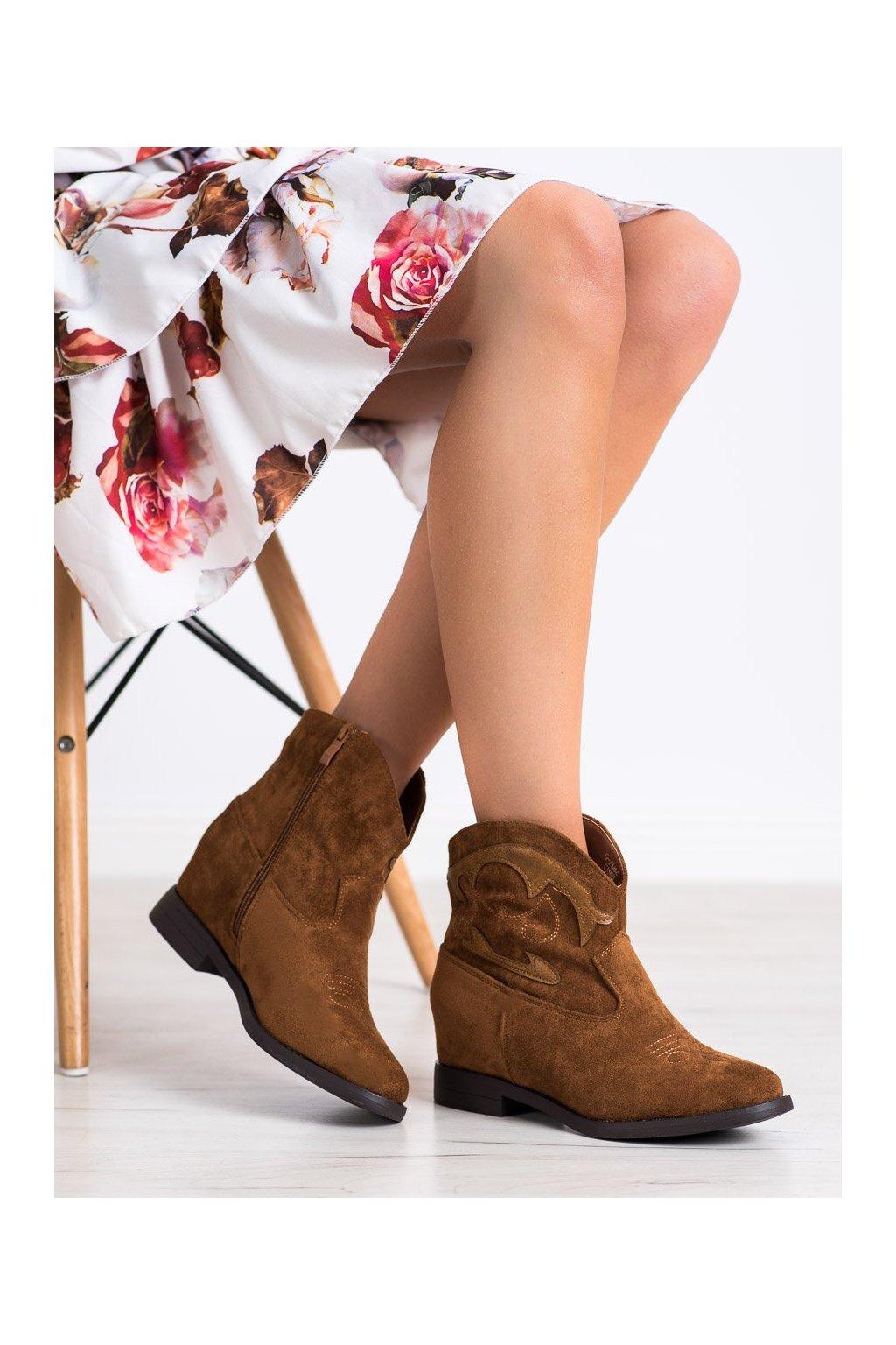 Hnedé dámske topánky Ideal shoes kod G-7682C