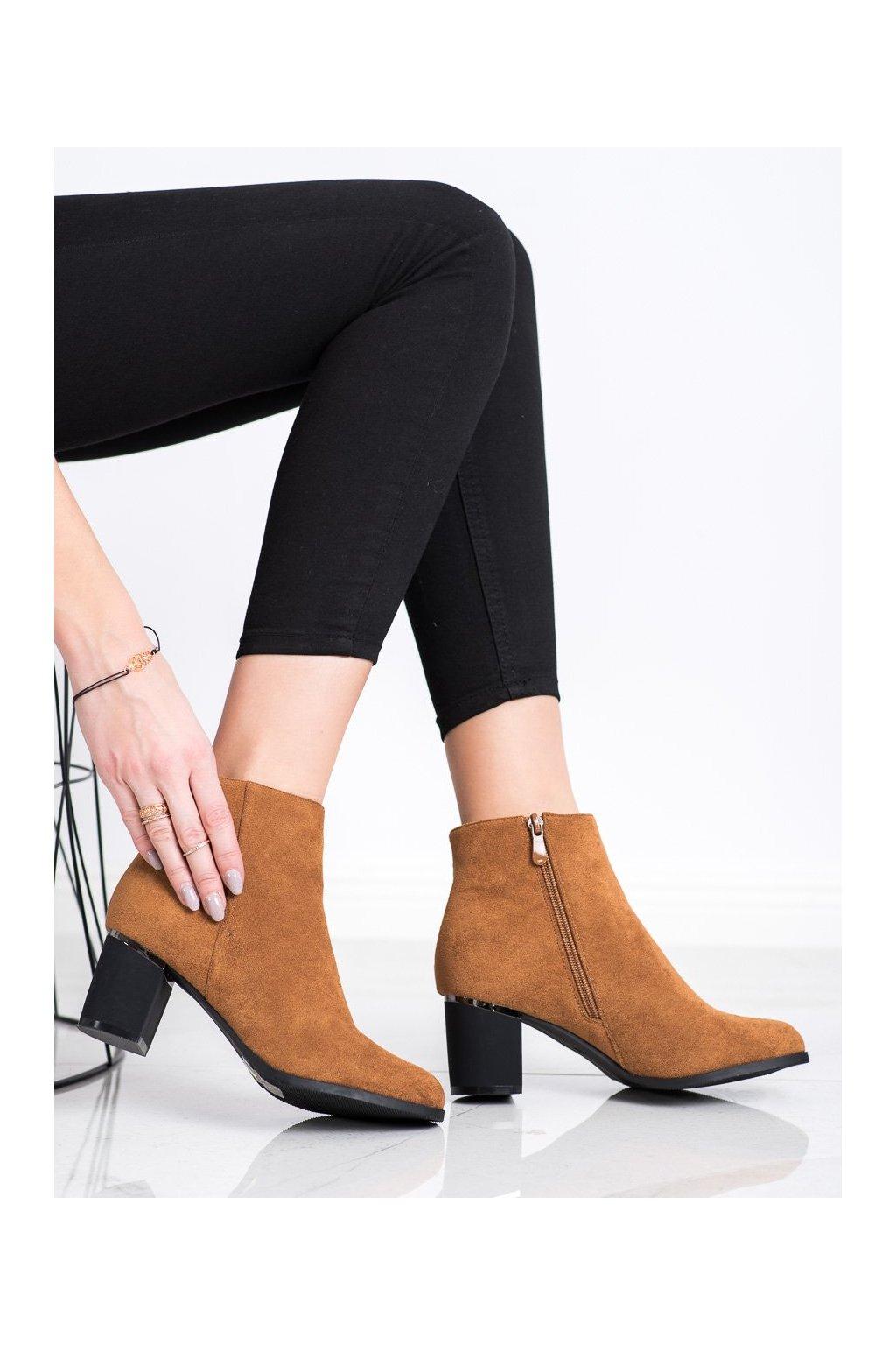 Hnedé dámske topánky Shelovet kod H20570C