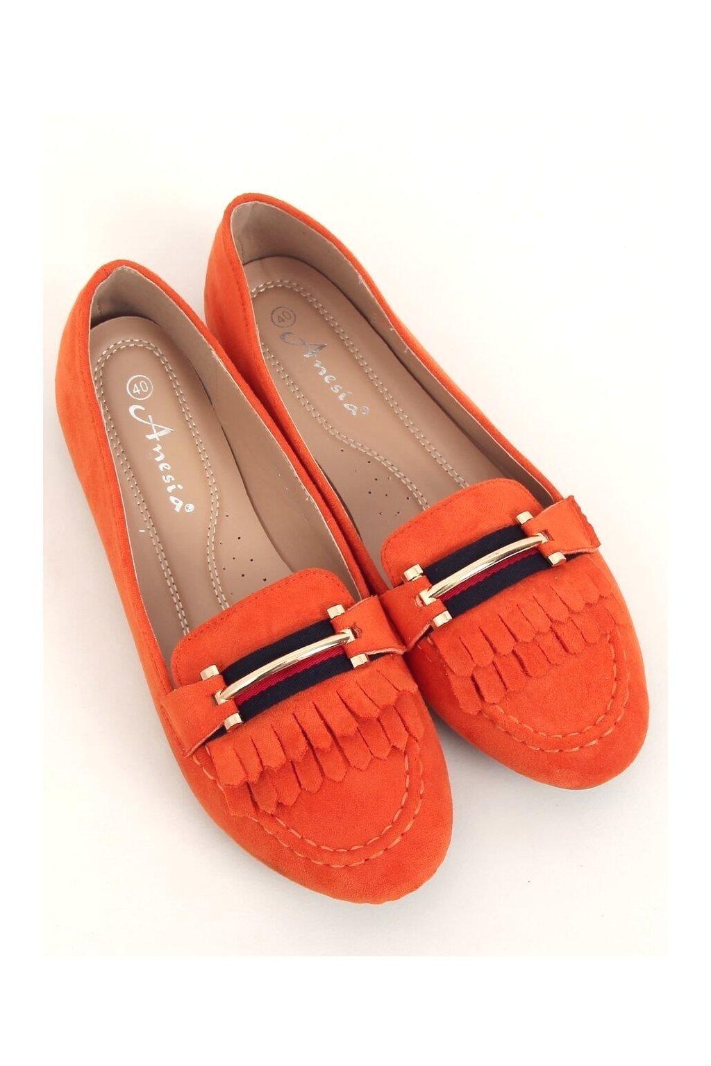 Dámske mokasíny oranžové 88-381