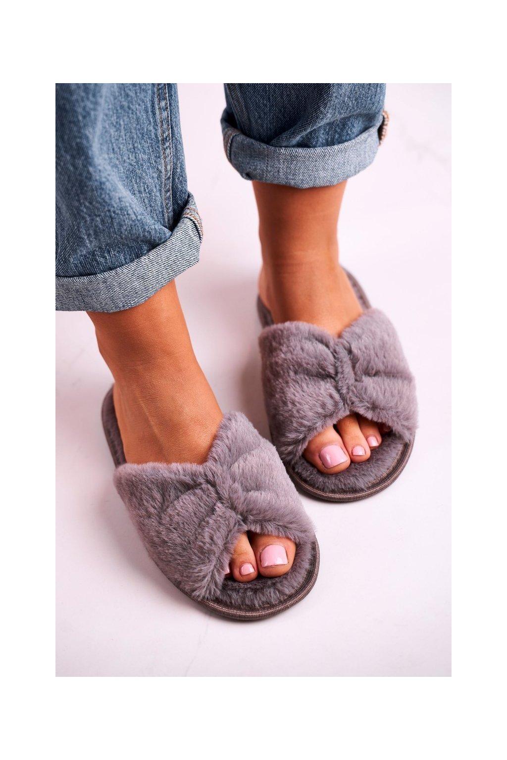 Dámske šľapky farba sivá kód obuvi 20PA36-3360 Grey